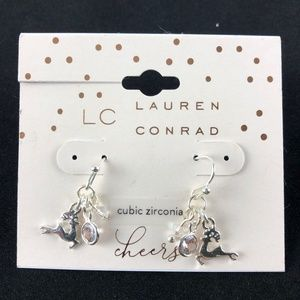 "LC Lauren Conrad Earrings 1/2"" Dangle Silver-Tone"